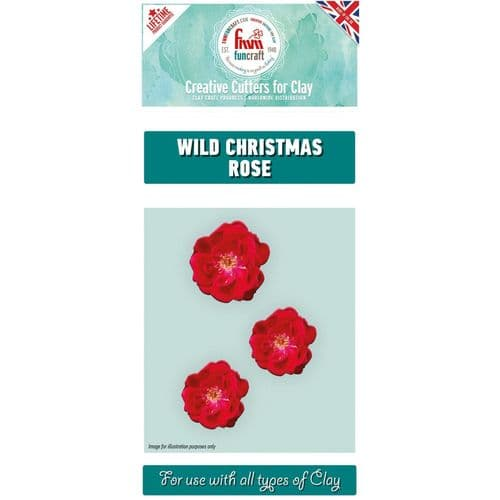 FMM Wild Christmas Rose Set of 3 Clay Cutters